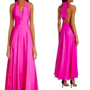MILLY Charlie halter maxi dress
